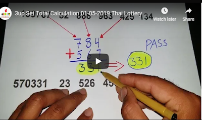 Thai lottery 3up Set Total Calculation Set Trick 01 May 2019