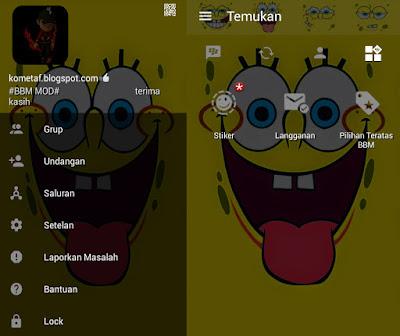 BBM MOD v3.0.1.25 Spongebob Square APK Free Data