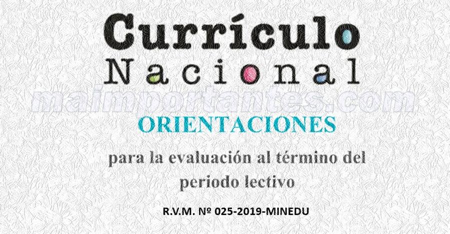 Orientaciones para la finalizacion del año escolar 2019