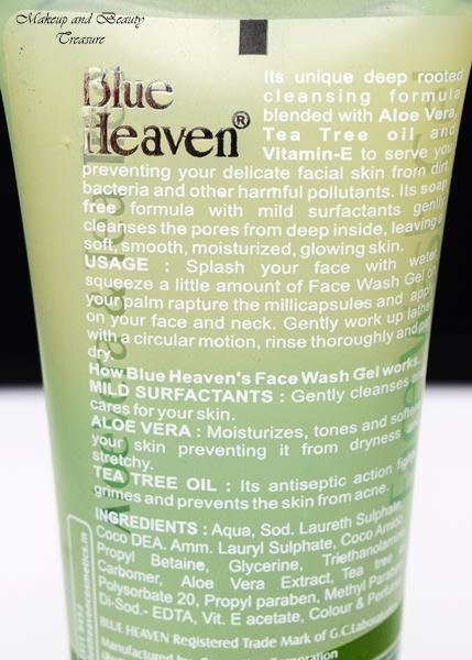 blue heaven face wash