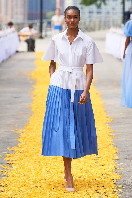 Pleated button down dress for spring and summer