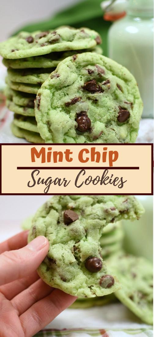 Mint Chip Sugar Cookies #healthyrecipe #dinnerhealthy #ketorecipe #diet #salad