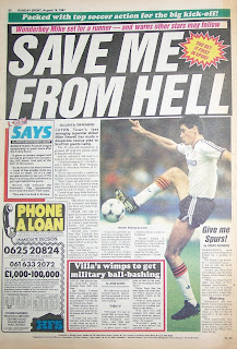 Back page of an old Sunday Sport newspaper from 16th August 1987