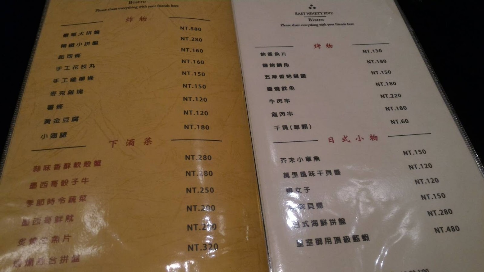 E95餐酒館菜單 評價