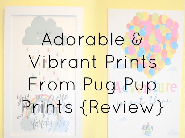 {AD/REVIEW} Adorable & Vibrant Prints From Pug Pup Prints