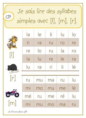 lire syllabes maternelle cp école à la maison domrod