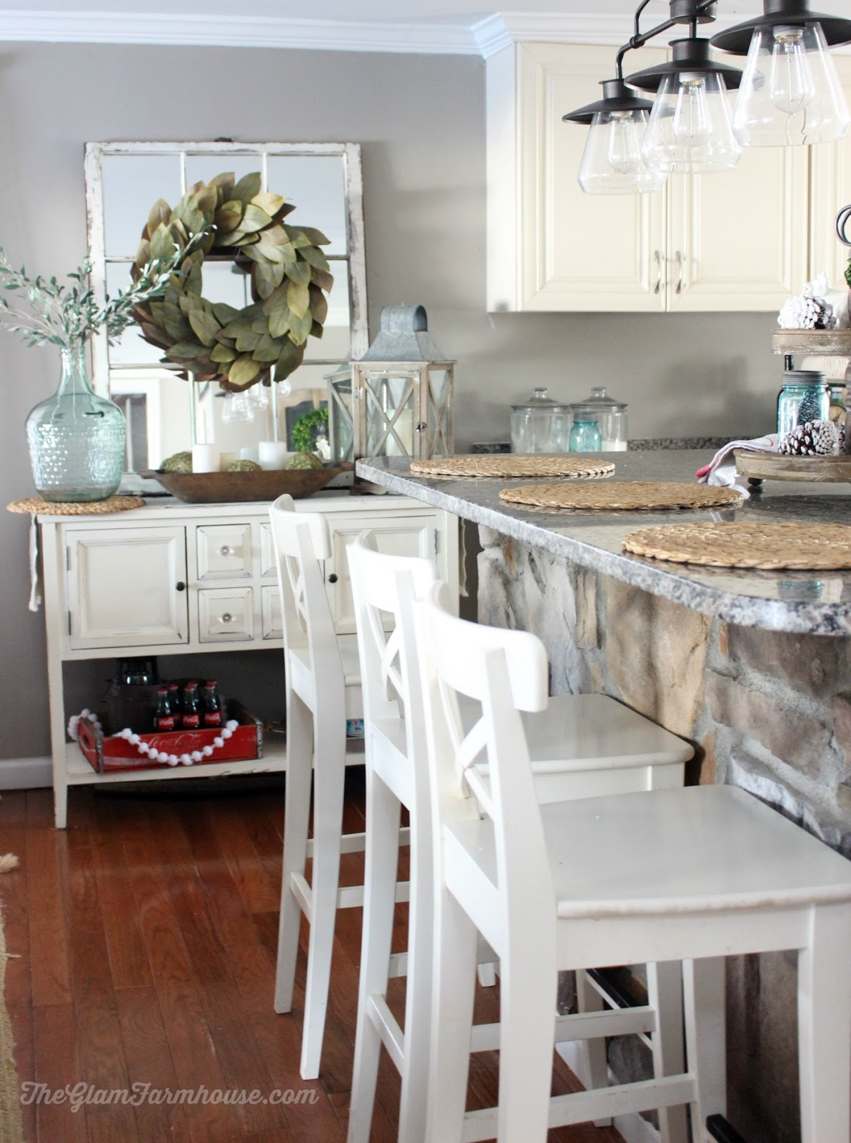 The Glam Farmhouse Rustic Glam Dining Room Tour With