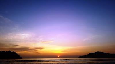 Sunset pasi jantang menyilau