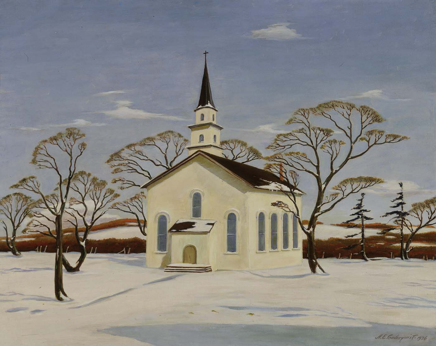 A New Deal Winter Christmas Country Church