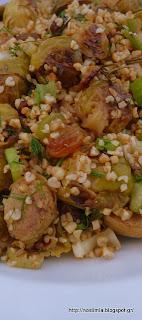 Σαλάτα με λαχανάκια Βρυξελλών κ πλιγούρι