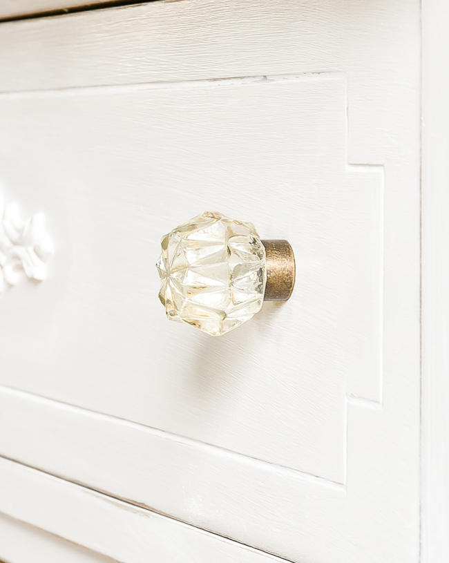 Brass and crystal hardware