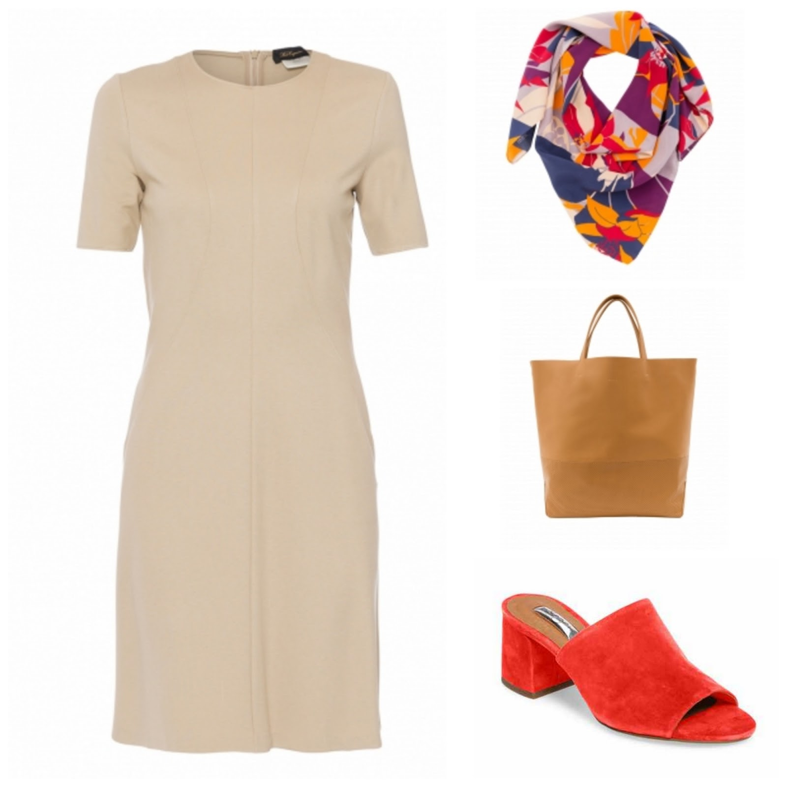 55bac69a8eb 7 Ways to Style a Neutral Dress featuring Halsbrook.com - The Daily ...