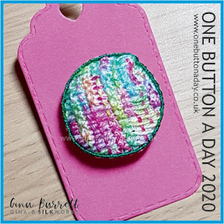Day 279 - Rosie - One Button a Day 2020 by Gina Barrett