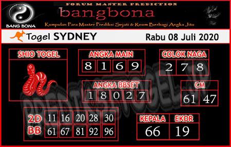 Prediksi Bangbona Sydney Rabu 08 Juli 2020