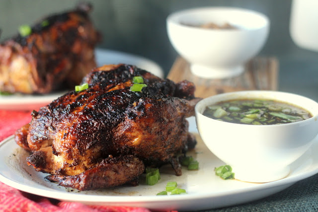 Five-Spice Rubbed Cornish Hens with Mongolian Barbecue Sauce by blackberry babe