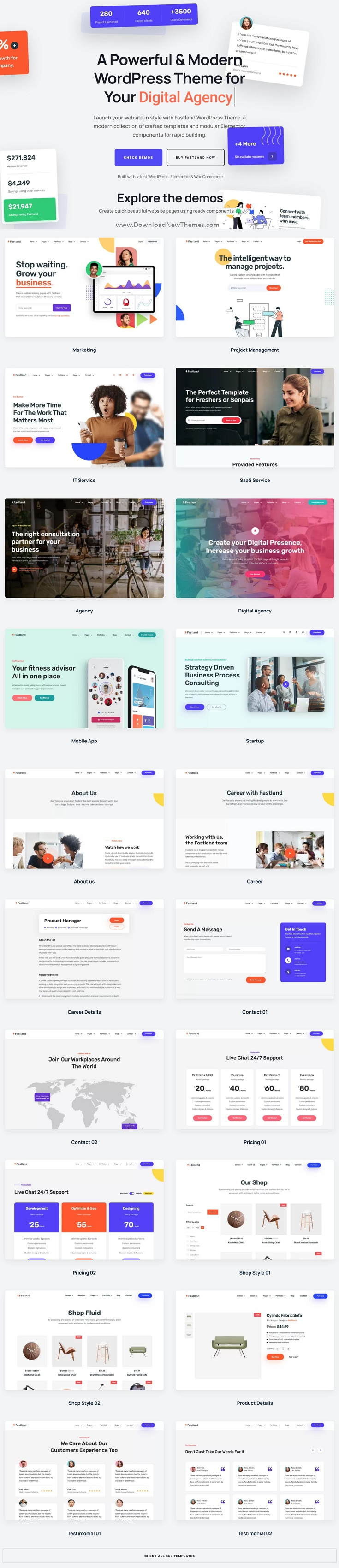 Startup & SaaS WordPress Theme