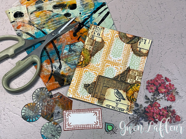 Project #2: Collage with DIY Stickers Tutorial Step 5 - Gwen Lafleur