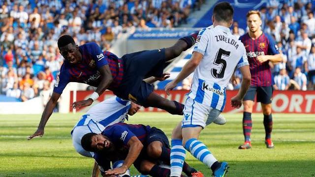 Sempat Tertinggal, Barcelona Bungkam Sociedad 2-1