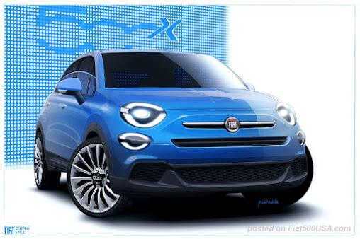 Fiat 500X Pop rendering