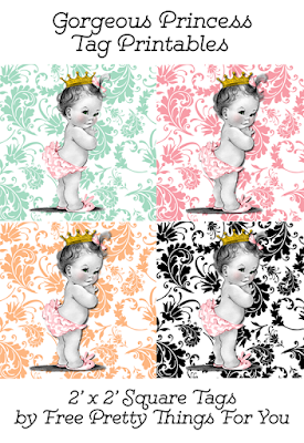 Vintage Baby Free printable Tags, Labels or Toppers.