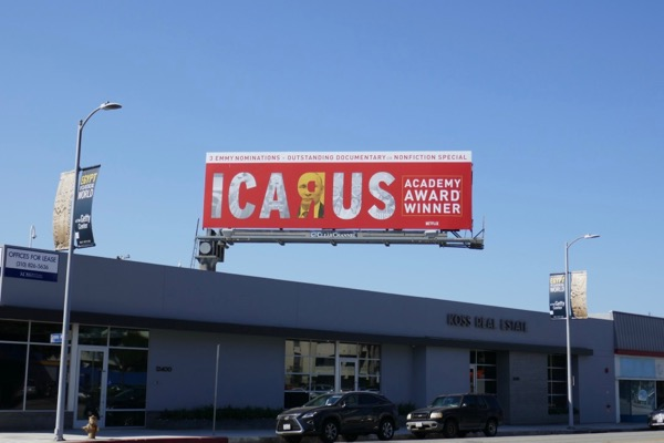 Icarus Emmy nominee billboard