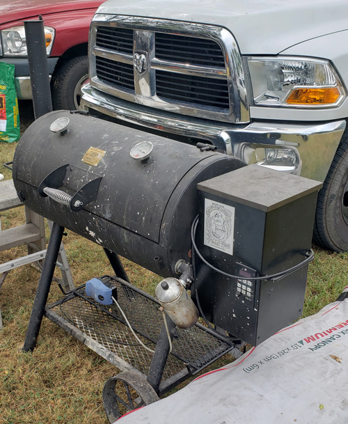 Homemade Oklahoma Joe's pellet cooker