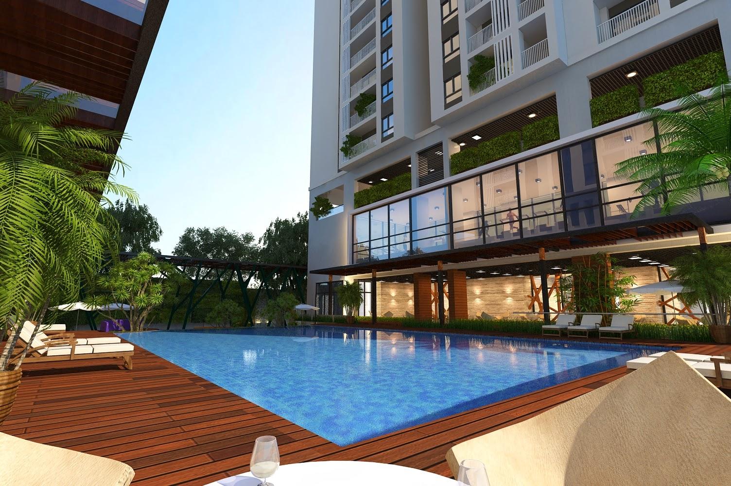 bể bơi tại chung cư Five Star Kim Giang