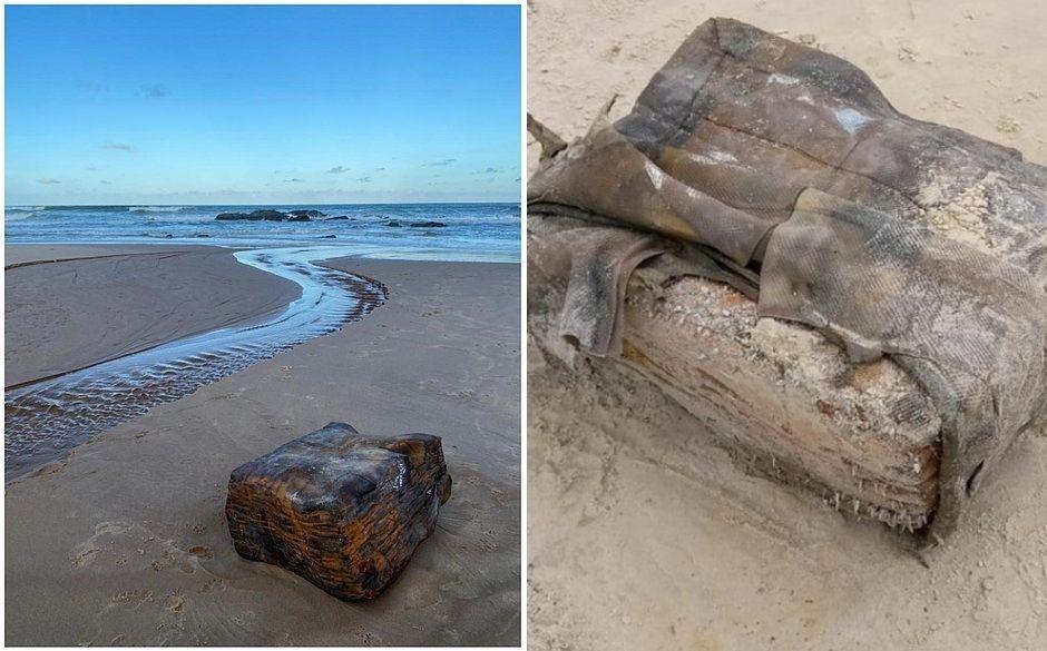 """""""Caixa misteriosa"""" de navio nazista aparece em praia da Bahia"""