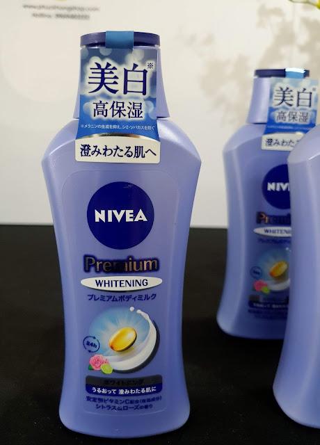 Sữa dưỡng thể cao cấp nivea premium body milk whitening - Hàng nội địa Nhật