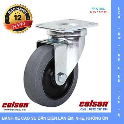 Bánh xe chống tĩnh điện Colson Mỹ càng xoay phi 100 | 2-4646-445C banhxedaycolson.com