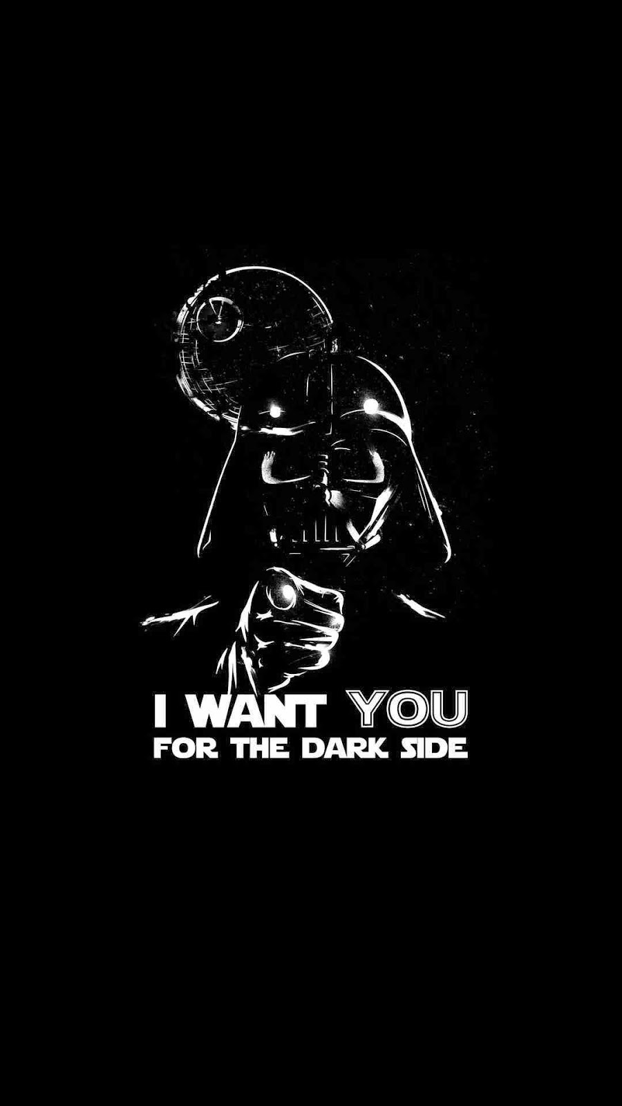 i want you for the dark side typography mobile wallpaper 1080x1920 3771 3037597430