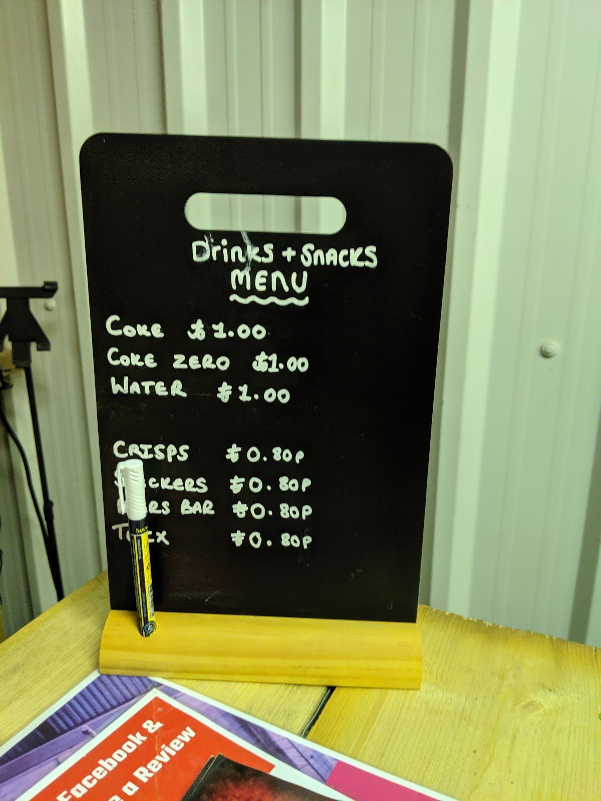 Indoor Axe Throwing in Newcastle at Hatchet Harry's  (Review) - snacks and drinks menu