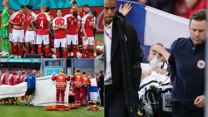 Eriksen appears at UEFA event to thank those who saved his life