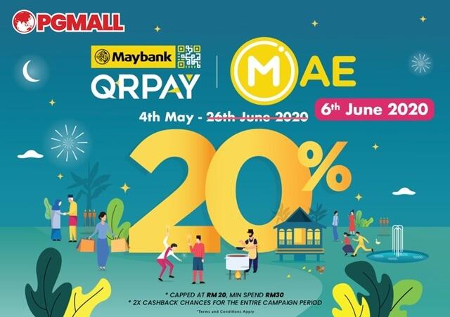Maybank QRPay 20% Cashback, PG Mall