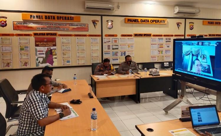 Hasil Ops Yustisi Aman Nusa II Polda Banten, Digelar Secara Virtual