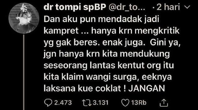 Kalau Sudah Tidak Diperlukan Lagi, Jokowi pun Akan Jadi Korban Buzzer