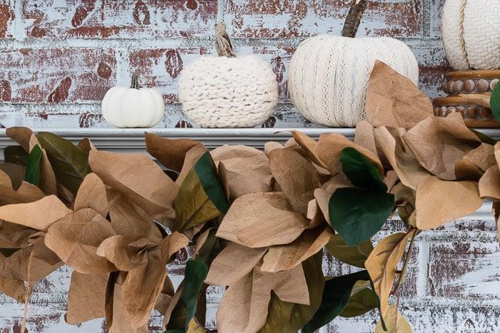 DIY Paper Bag Leaf Garland