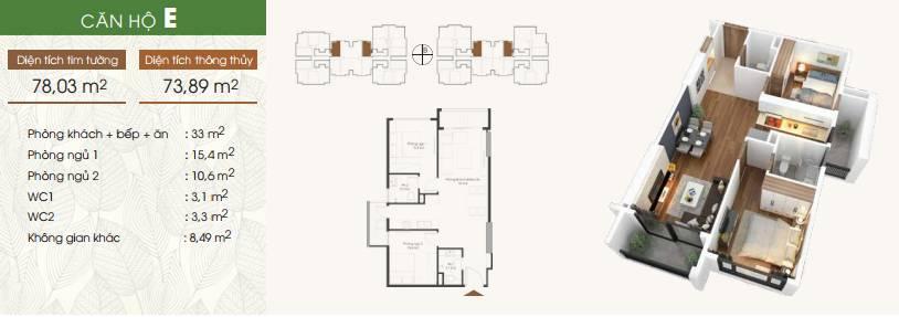 Thiết kế căn hộ chung cư Five Star Kim Giang