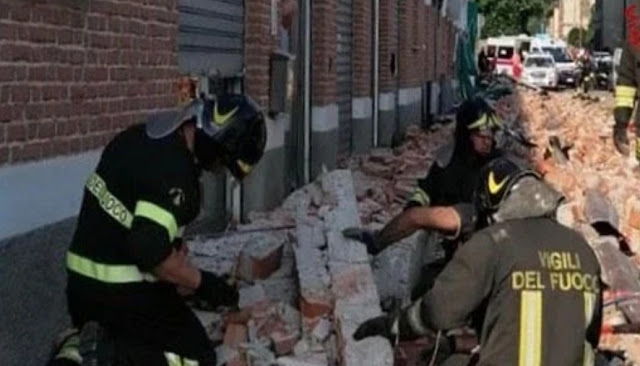 """فاجعة الجالية المغربية بايطاليا: وفاة ام مغربية وابناءها بعد سقوط مبنى عليهم .  """"فيديوهات من مكان الفاجعة""""."""""""