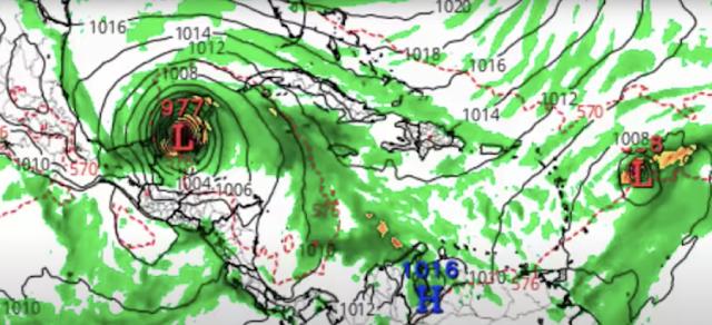 El modelo GFS muestra que impactaría Península de Yucatán