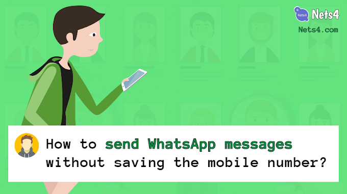 Send WhatsApp messages without saving the mobile number of the recipient