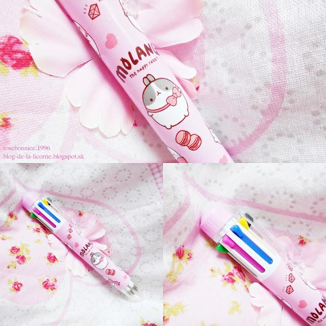 Molang Rabbit Pink 8-colour Ballpoint Pen review