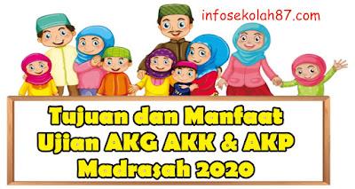 Tujuan Dan Manfaat AKG, AKK dan AKP Madrasah Tahun 2020
