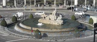 La Fuente de Cibeles desde el Palacio de Comunicaciones.