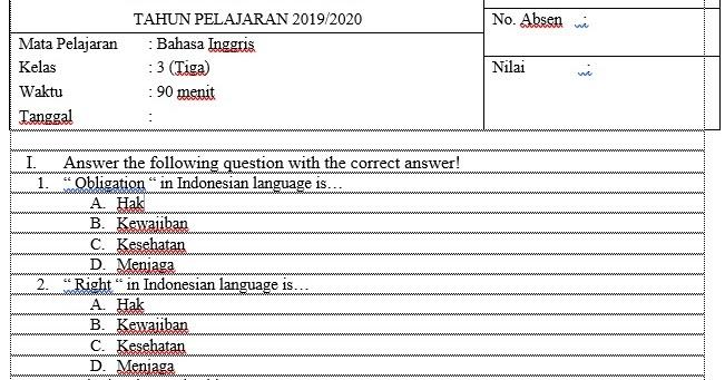 Download Soal Tata Boga Kelas 6 Sd 20172018