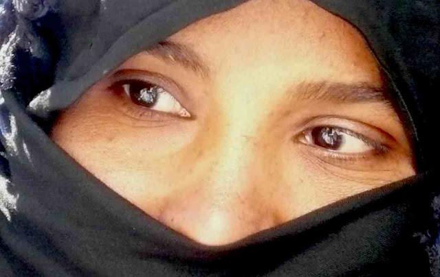 primer plano de ojos de una mujer marroquí