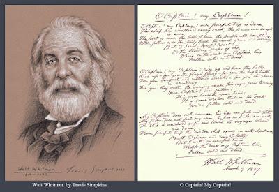 Walt Whitman. American Poet, Essayist and Journalist. O Captain! My Captain! by Travis Simpkins