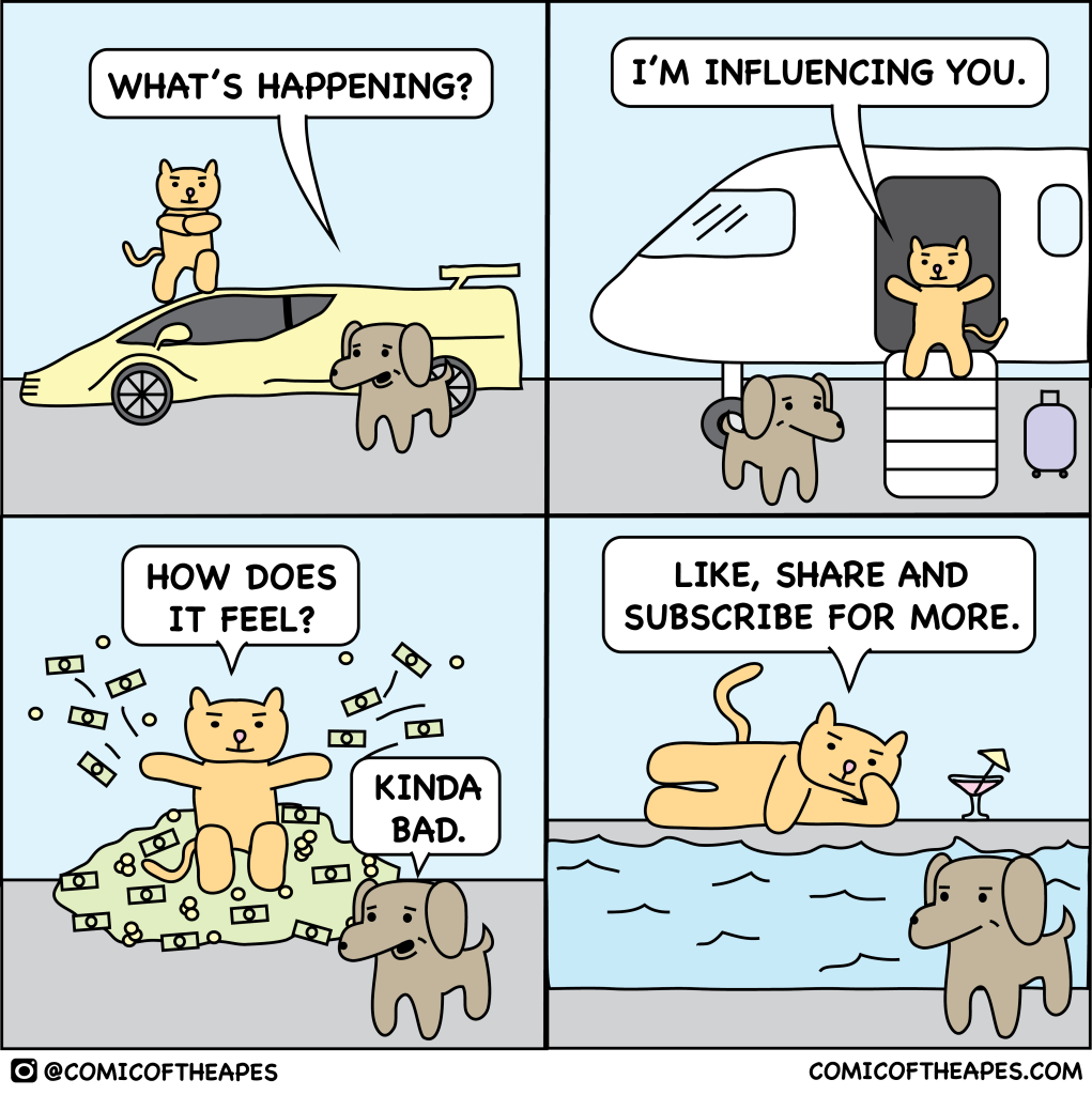 A cat of influence
