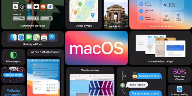 Mac OS 11 big sur Information application