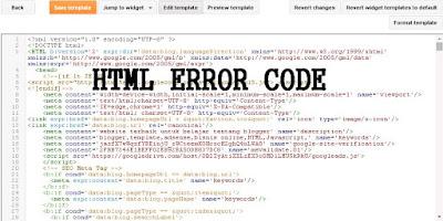Menghapus HTML Error pada Template